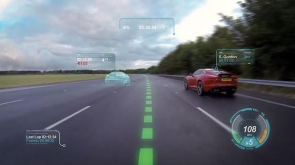 Jaguar Land Rover выведет навигацию на лобовое стекло