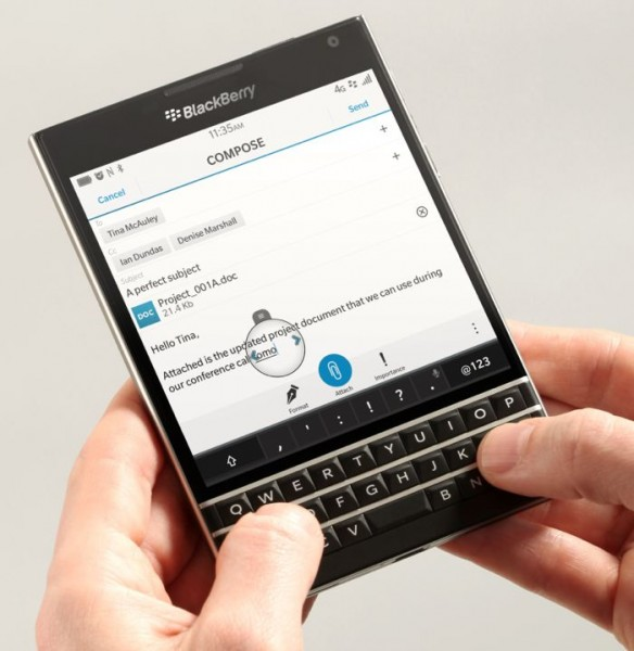 BlackBerry продемонстрировала дизайн BlackBerry Passport