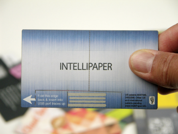 SwivelCard — визитная карточка с USB