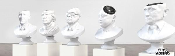 Sound of Power встроила колонки в бюсты президентов и диктаторов