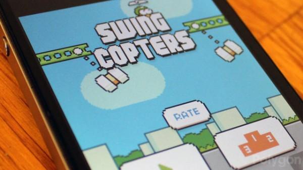 Swing Copters оказалась сложнее Flappy Bird