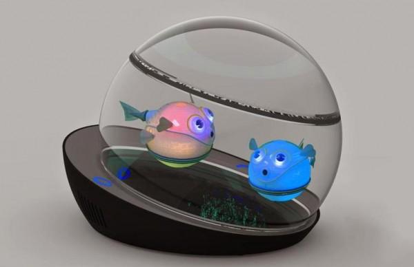 Capsule: роботизированная рыбка с беспроводной зарядкой
