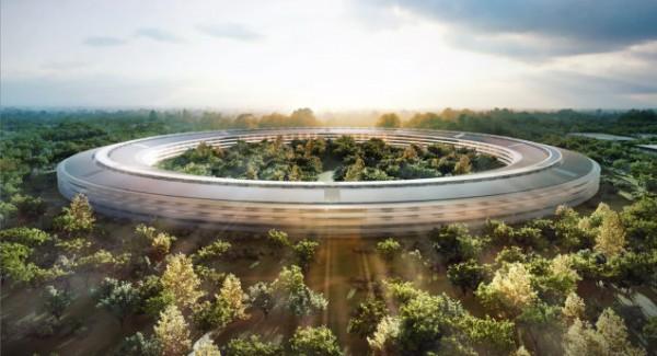 «Космический корабль» Apple сняли на видео с беспилотника