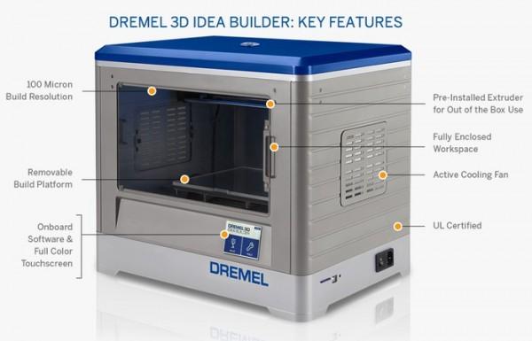 Dremel представила 3D-принтер Idea Builder за 999 $