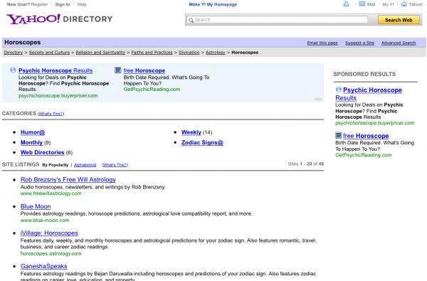 Yahoo закроет знаменитый Каталог уже 31 декабря