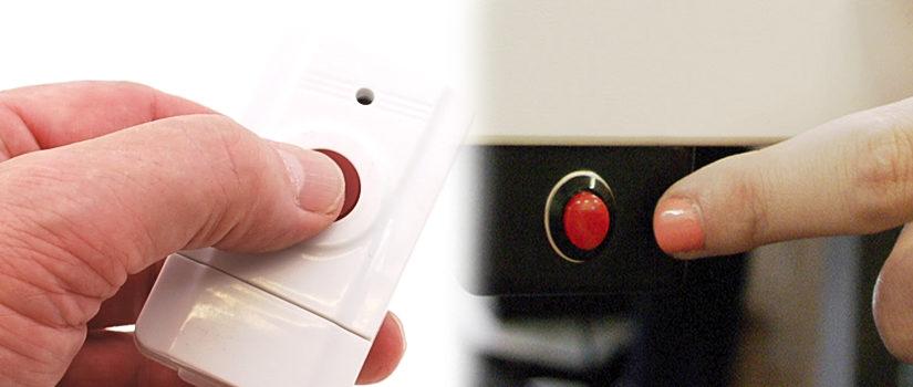 Обеспечение оповещений в системе безопасности с помощью тревожной кнопки