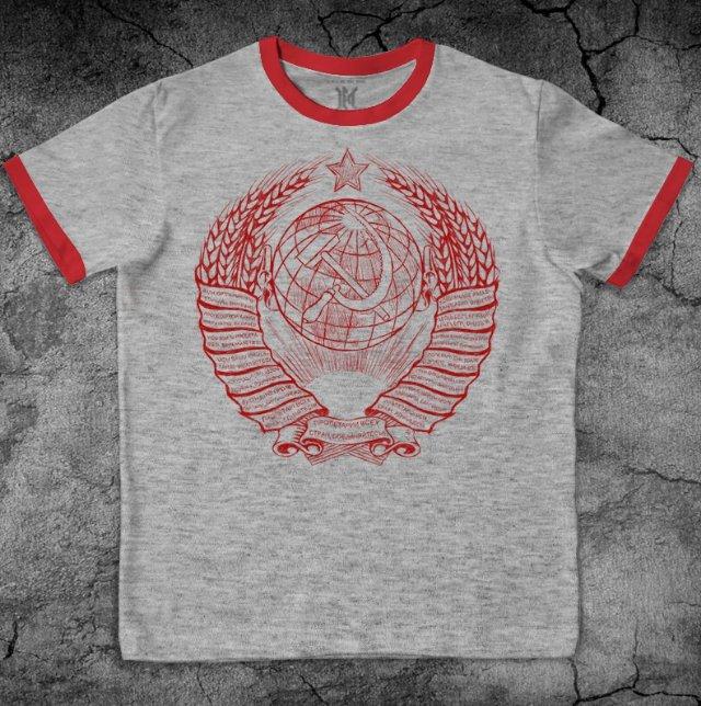 Качественная футболка с гербом Советского Союза