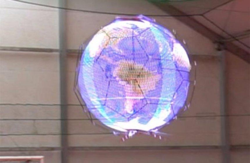 В Японии создали сферический летающий дисплей для распространения информации