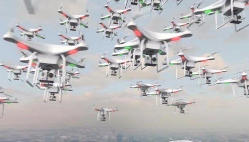 В Китае подняли в воздух рекордное число дронов