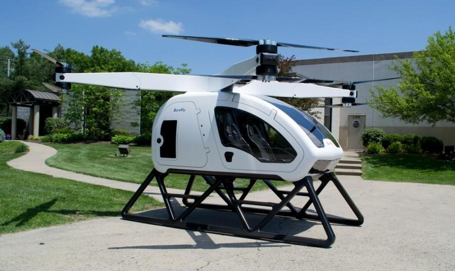 Пассажирский дрон Workhorse сможет перевозить по воздуху двоих пассажиров и багаж