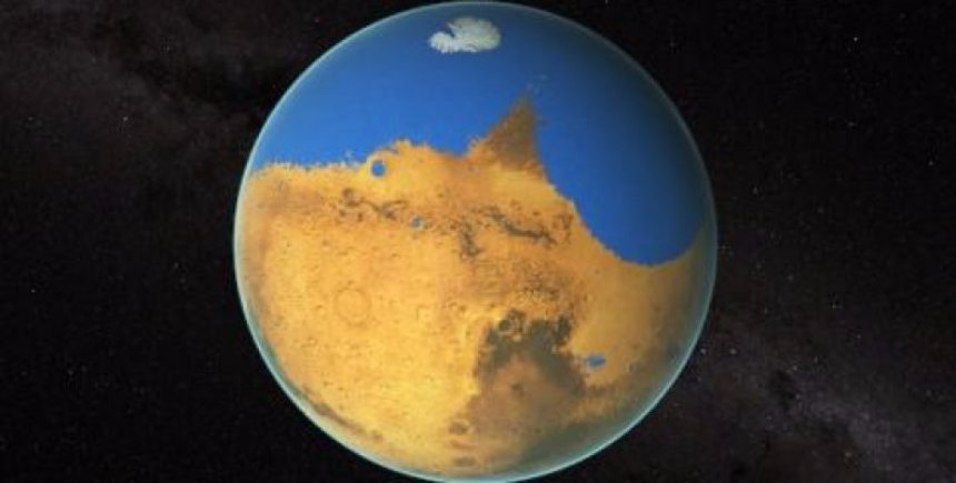 Астрономы нашли океан на Марсе