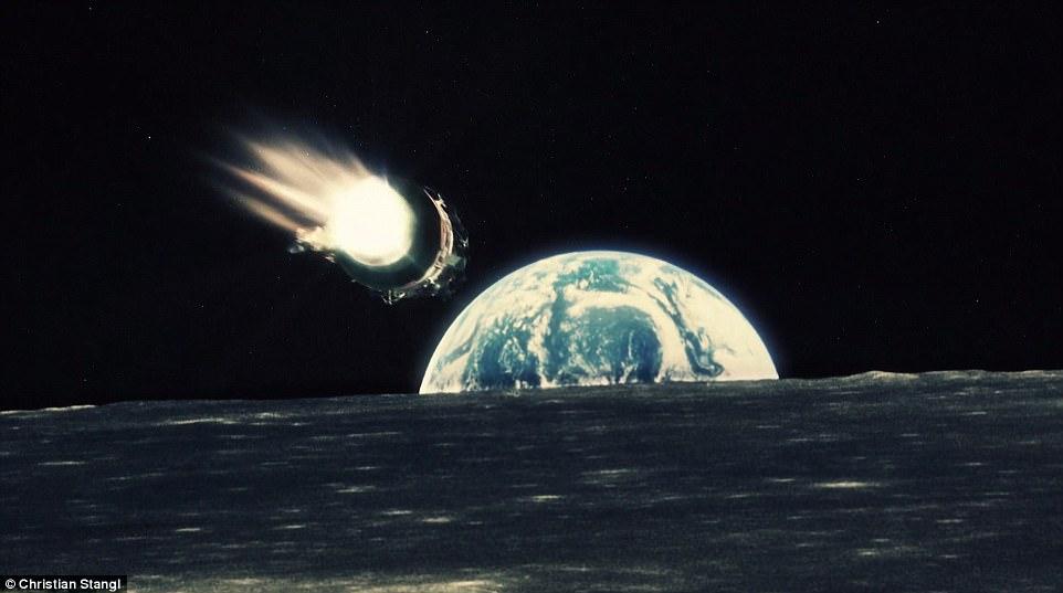 Дизайнер смонтировал фильм про Луну на основе 1000 снимков с Аполлона