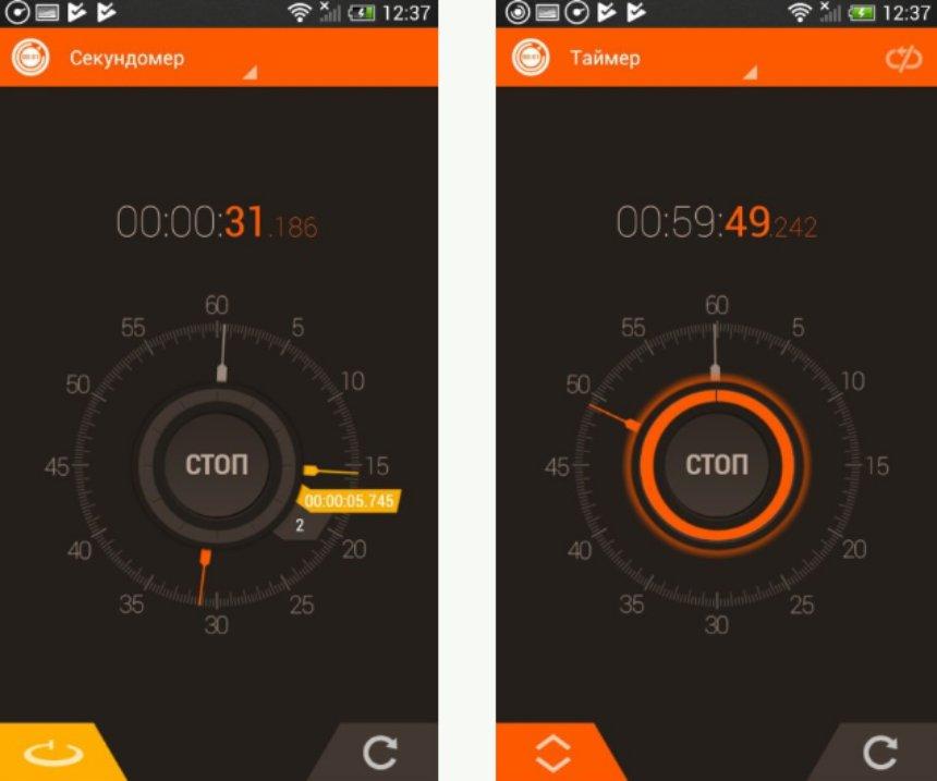 Гибрид секундомера и таймера: 2 в 1 с приятным интерфейсом