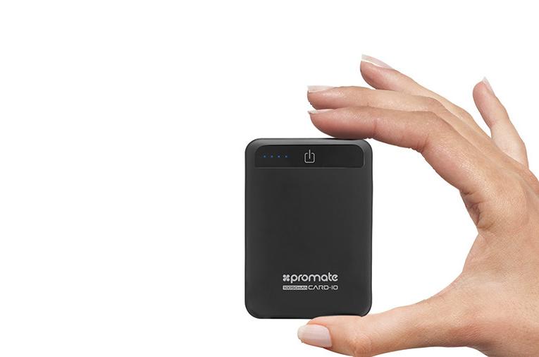 Promate выпустят power-bank на 10000 мА/ч размером с кредитку