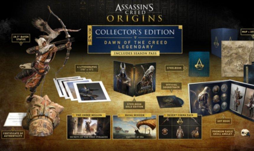 Ubisoft Montreal выпустила коллекционное издание Assassins Creed: Origins
