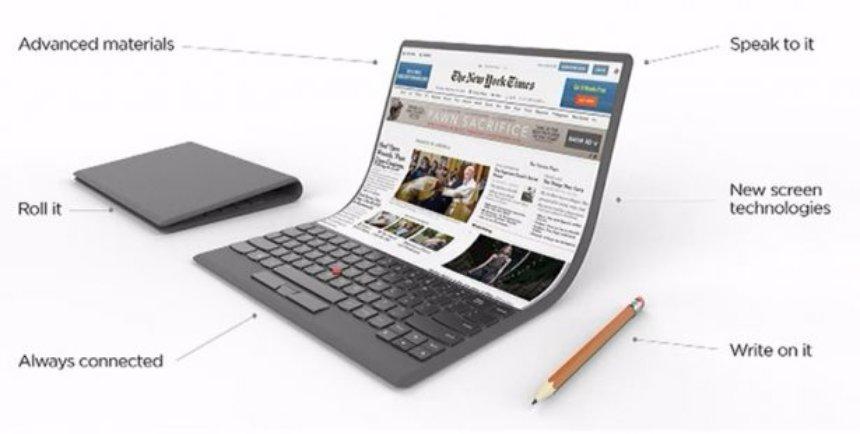 Ноутбуки  | Lenovo представили новый гибкий ноутбук в футуристическом стиле | 6-8