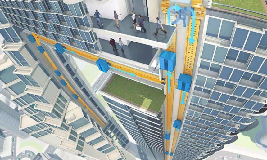 Представлен первый в мире лифт без тросов