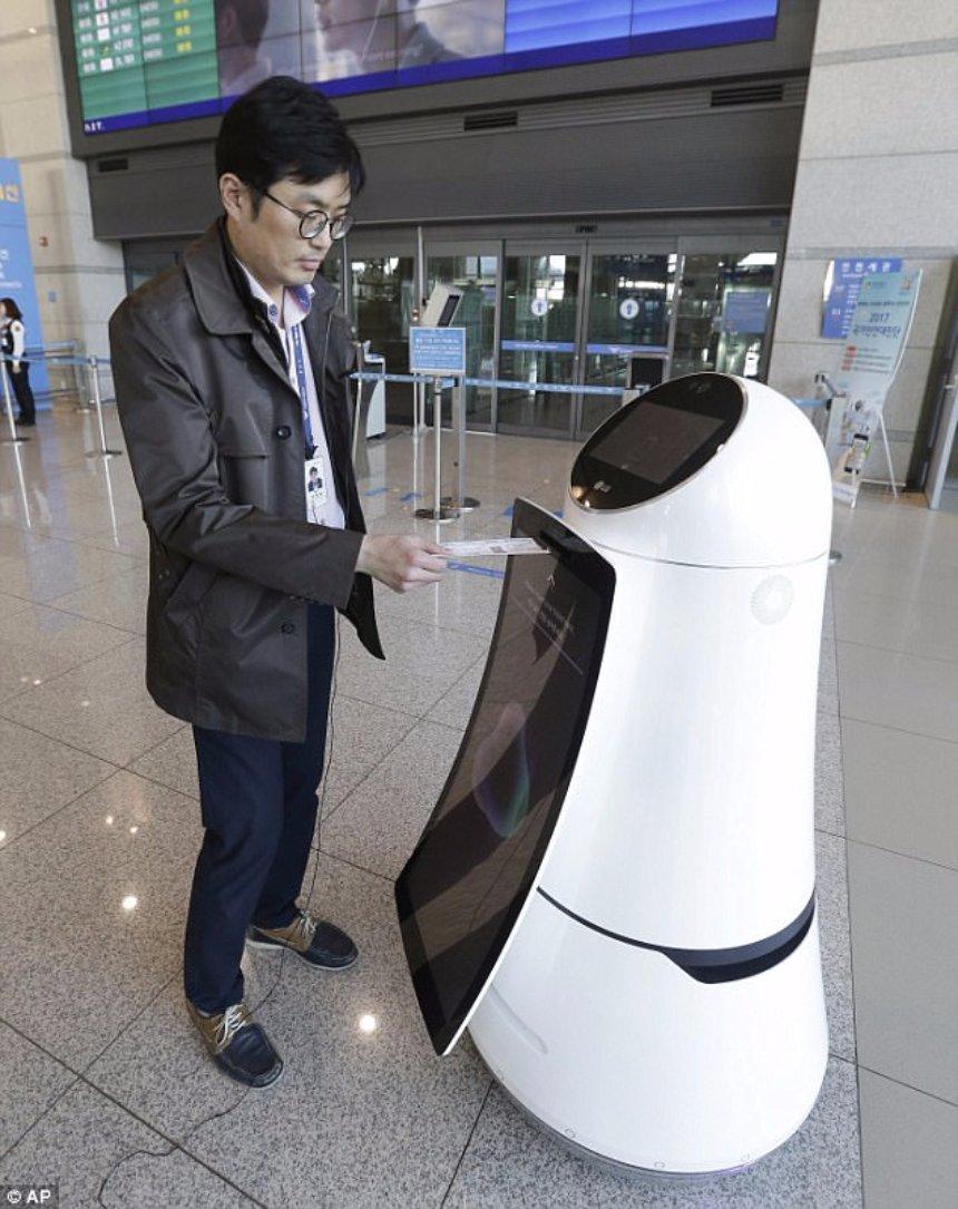 В международном южнокорейском аэрпорту начнет функционировать робот-полиглот