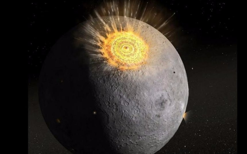 На Луну упал метеорит