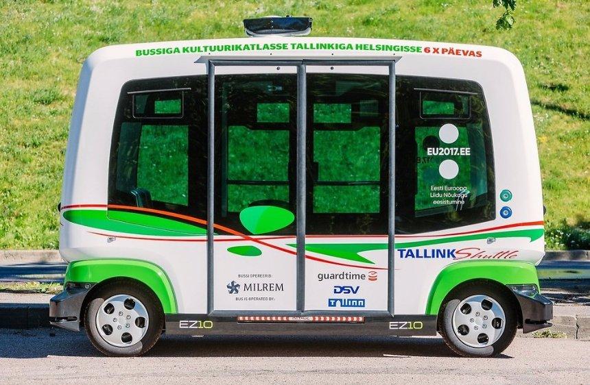 В Таллине скоро выйдут на маршрут беспилотные автобусы