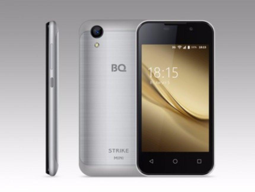 Стартовали продажи бюджетного российского смартфона BQ Strike Mini