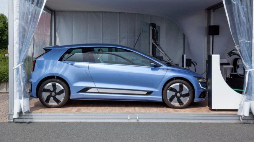 В Сеть утекли фото полностью электрического Volkswagen Golf