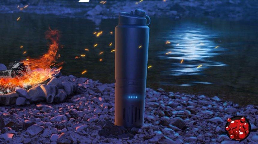 Создана аккумуляторная кружка, которая сама кипятит воду