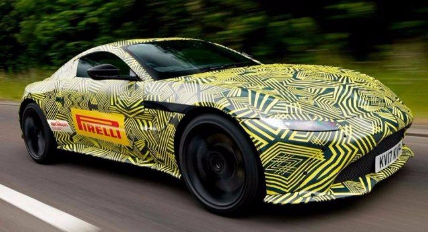В Сети появились первые фото нового Aston Martin Vantage