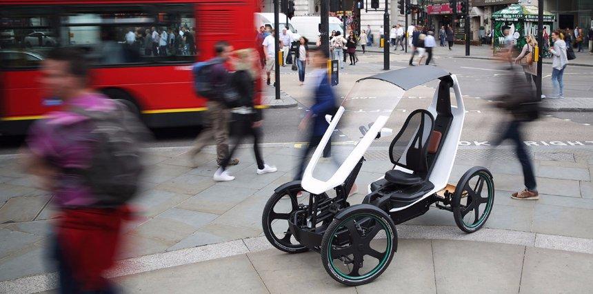 Создан электрический четырехколесный велосипед для города