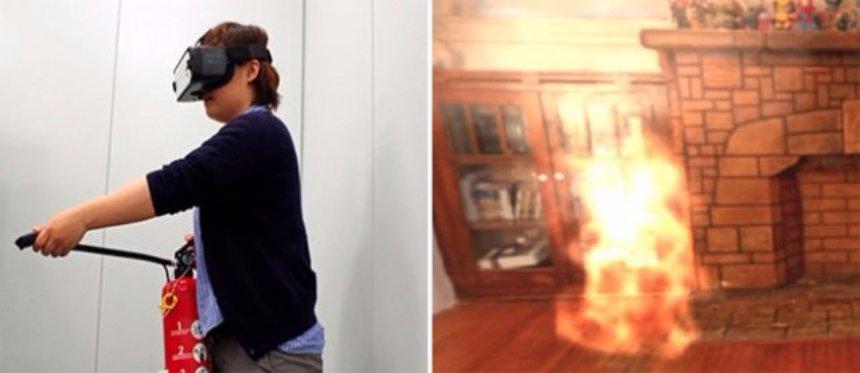 С помощью шлема виртуальной реальности людей научат правильно вести себя во время пожара