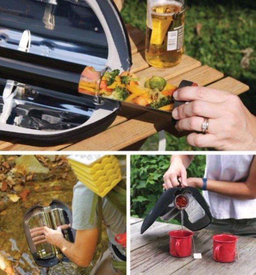 Компания GoSun создала солнечную печку для кипячения воды