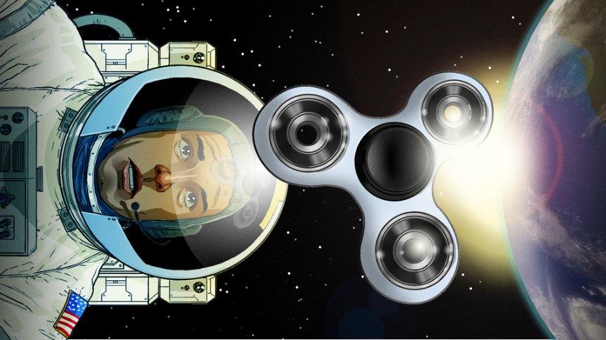 Спиннером поиграли в космосе