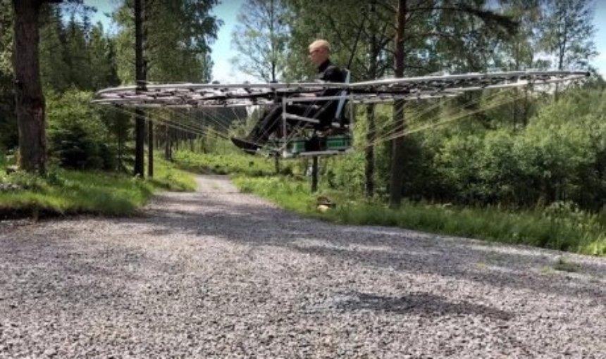 Шведский изобретатель создал летающий ковер