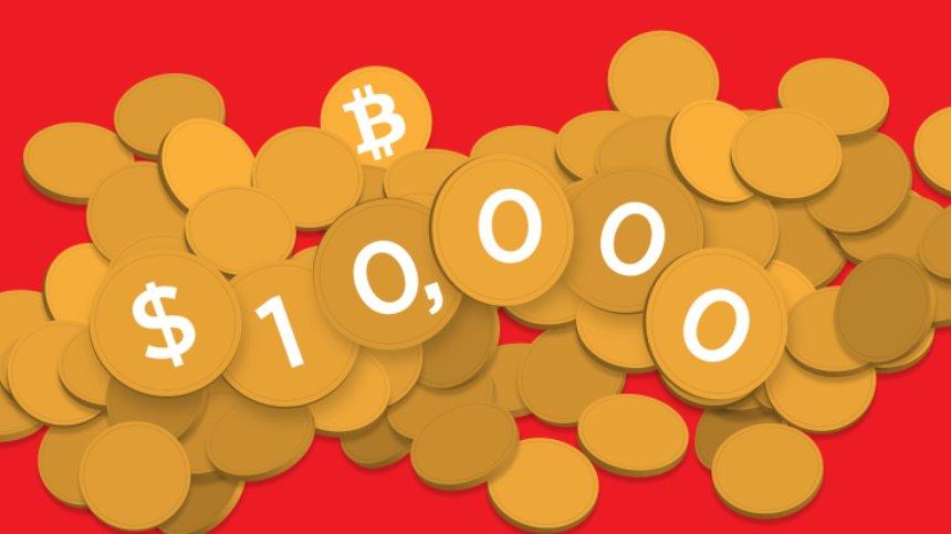 Биткоин впервые превысил отметку в $10 тыс.