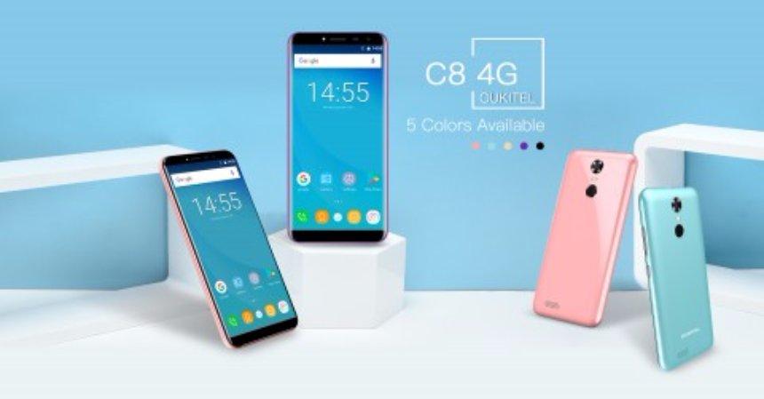 Новый Oukitel C8 4G станет одним из самых дешевых смартфонов
