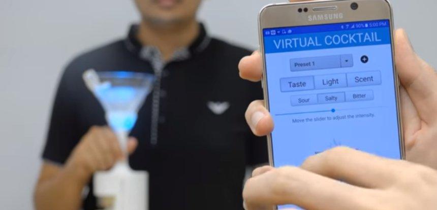 Для сторонников виртуальной реальности создали виртуальный коктейль