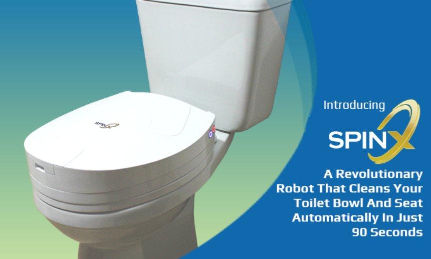 SpinX выпустит робота, который самостоятельно сможет почистить унитаз