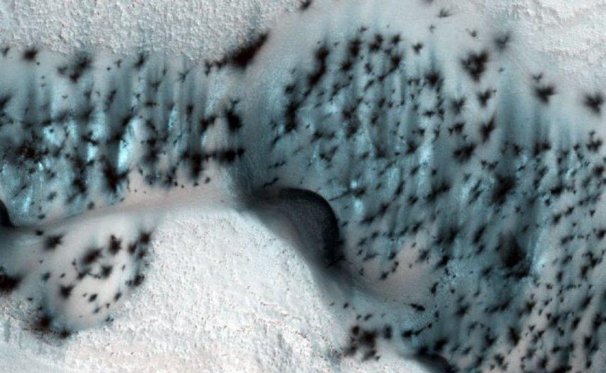 Были обнародованы фотографии зимнего Марса