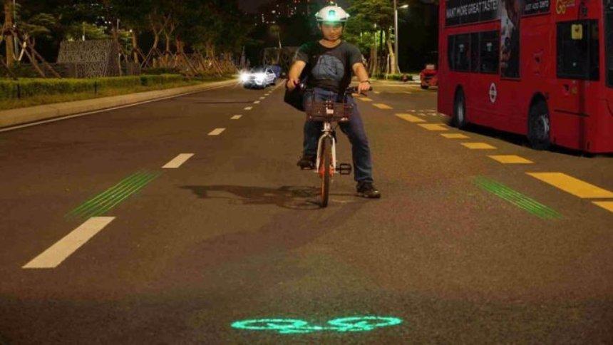 Ученые создали велосипедный шлем, имеющий лазерный маяк