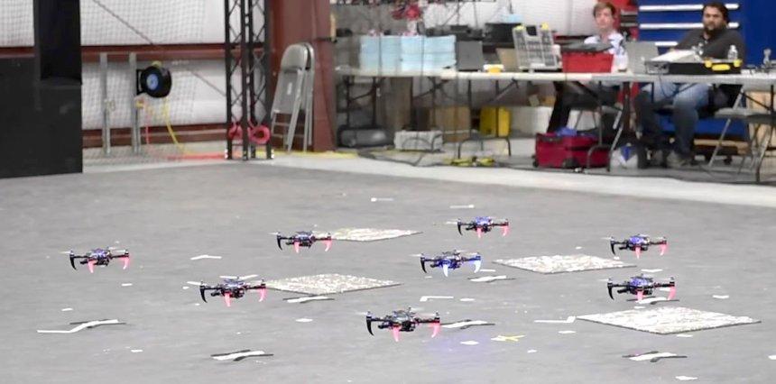 Квадрокоптеры можно будет запускать стаями