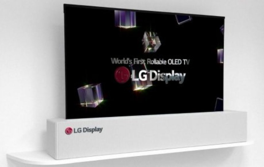 Новый телевизор от LG можно скрутить в трубочку