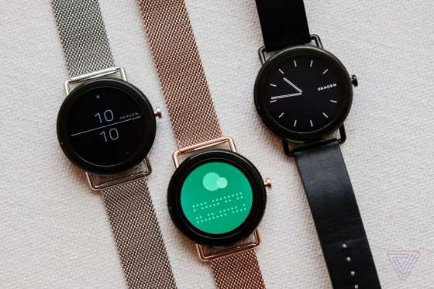 Представлены первые минималистические смарт-часы с сенсорным экраном Skagen