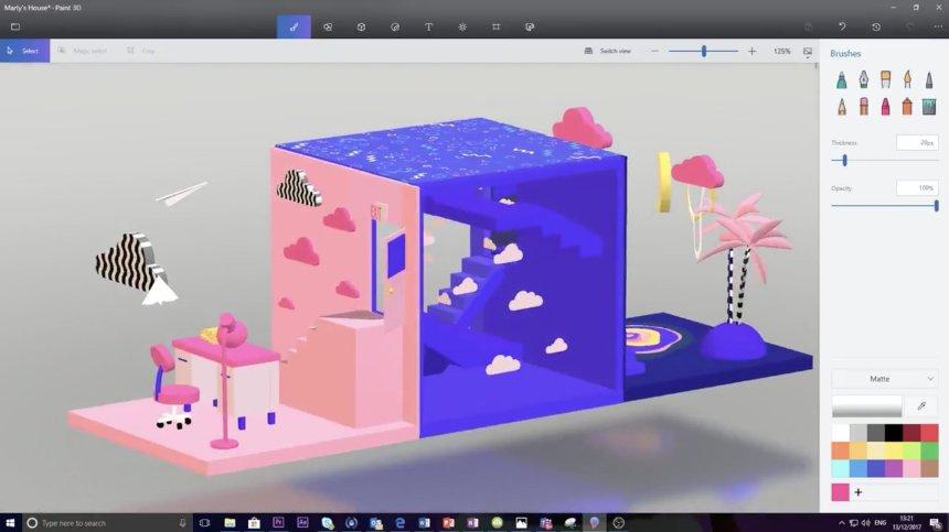 Microsoft серьезно обновляет Paint 3D в Windows 10