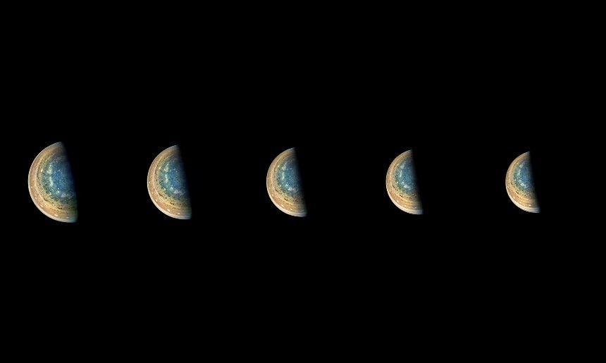 В НАСА впервые показали южный полюс Юпитера