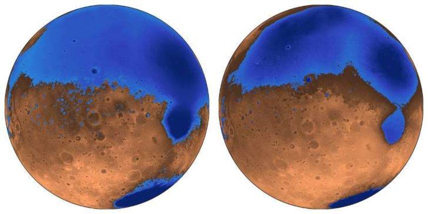 Океаны на Марсе образовались раньше, чем считалось ранее