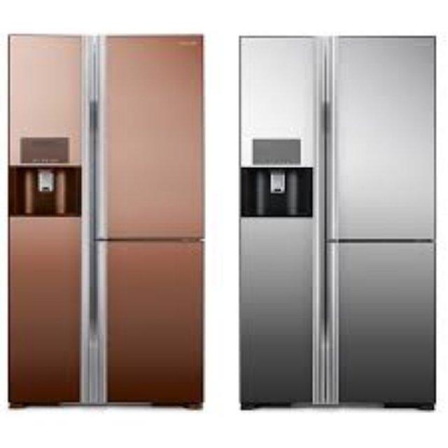 Современный холодильник hitachi side by side
