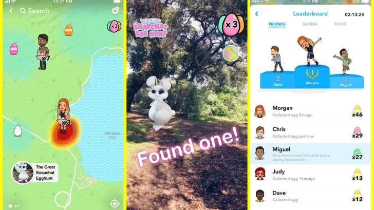 Snapchat превращается в гонку за пасхальными яйцами