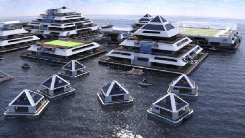 Представлена концепция города плавающих пирамид