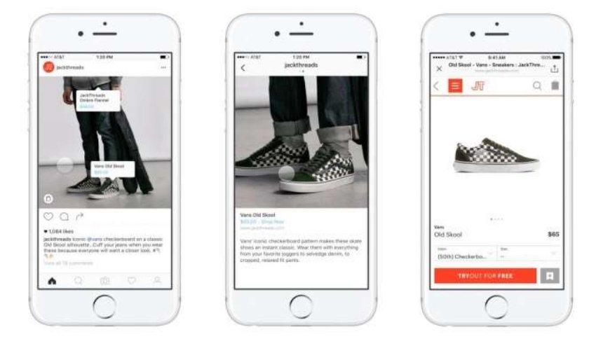 Соцсеть Instagram внедряет платежи