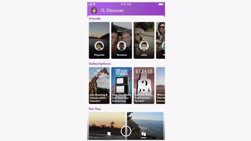 Пользователи негативно оценили редизайн приложения Snapchat